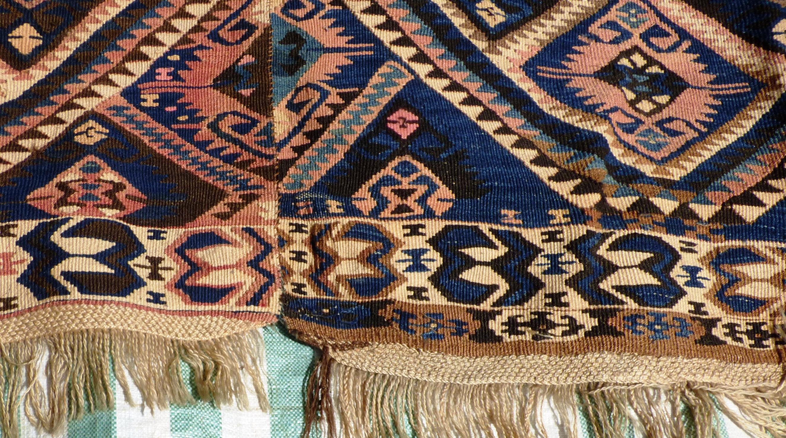 Hakkari Kilim Anatolia Turkish Wool On Wool 17047