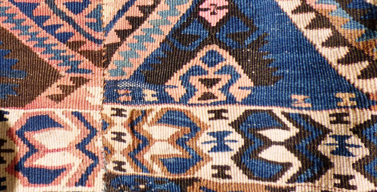 Hakkari Kilim Anatolia Turkish Wool On Wool 17047