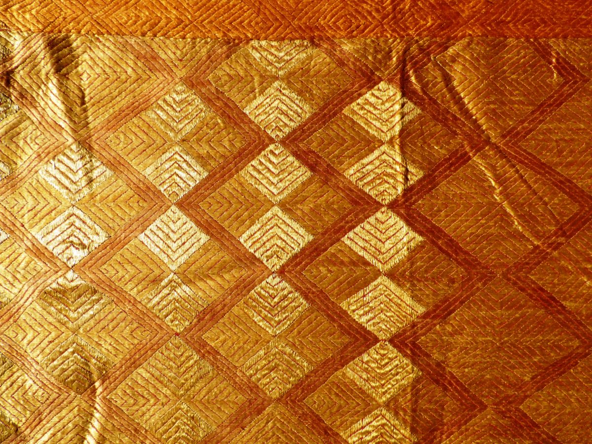 Traditional Phulkari Bagh Embroidered Panel 17052