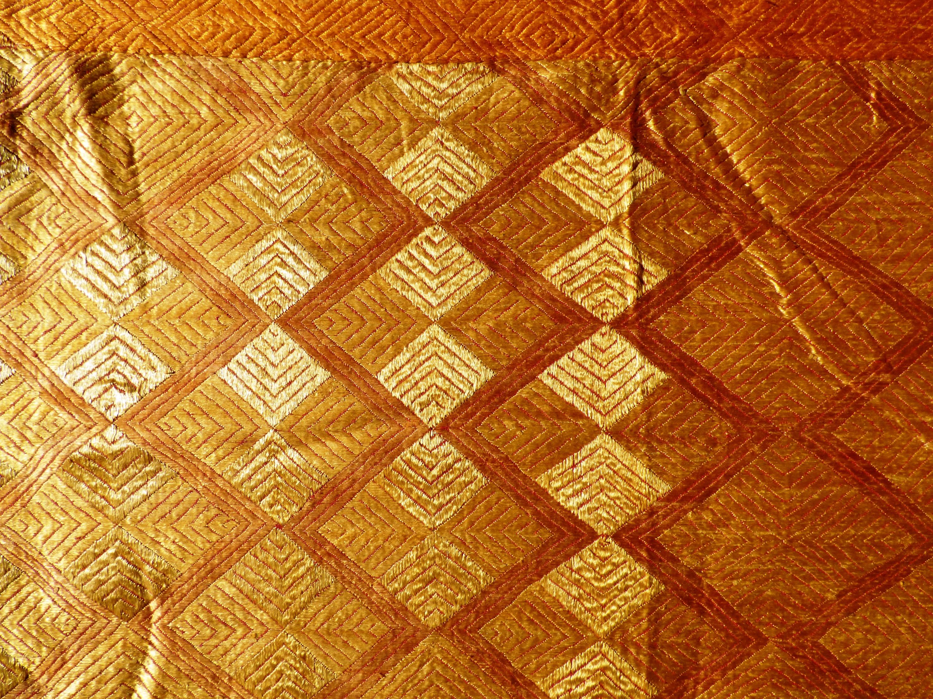 Traditional Phulkari Bagh Embroidered Panel 17052