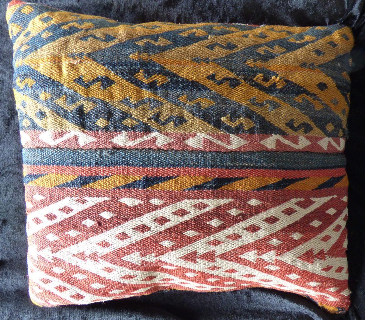 Uzbek Kilim Flatweave Gajari Cushion 17071 Dominic Orr