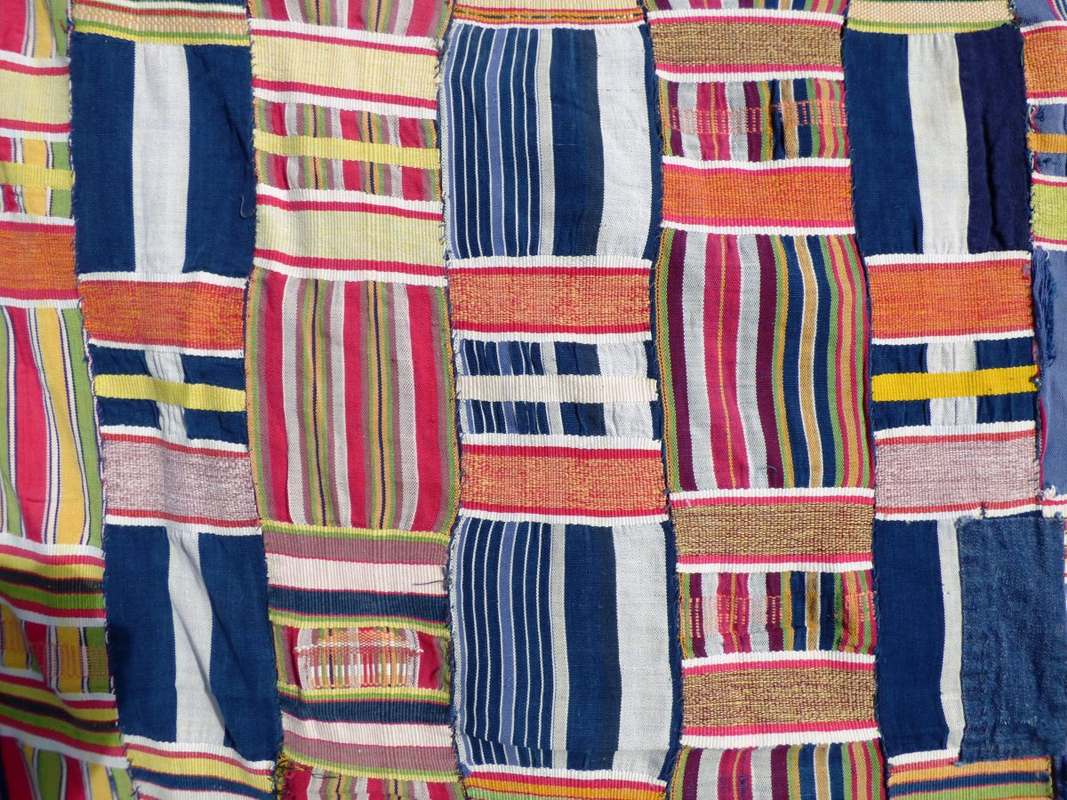 Kente cloth Ghana West Africa