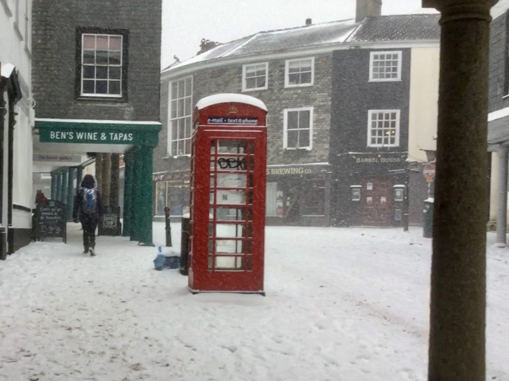Totnes High Street Beast from the East