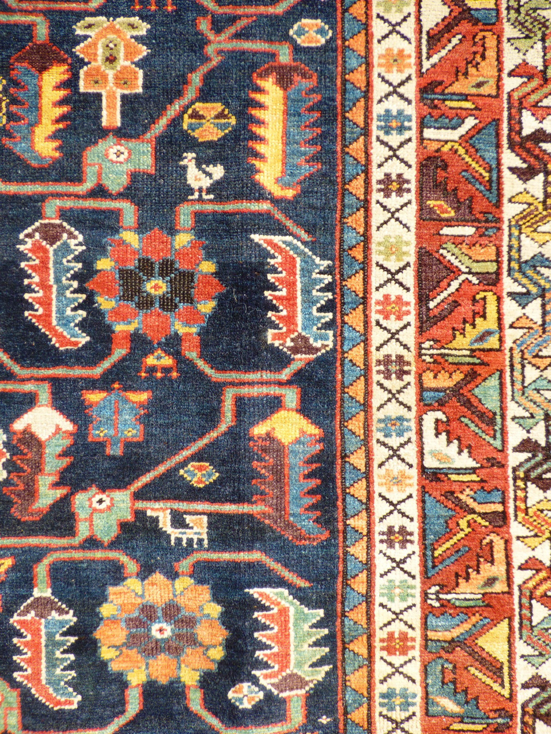 Persian Kurdish Runner wool detail