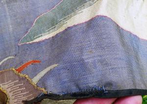Chinese silk kesi hanging