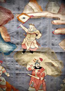 Chinese kesi silk hanging